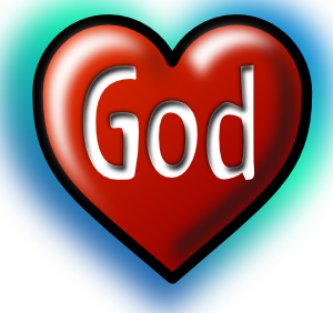 God inside a heart