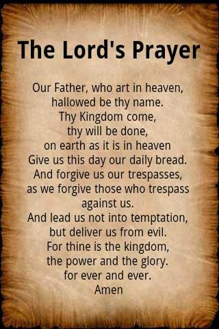 This is a picture of Lucrative The Lord's Prayer Printable